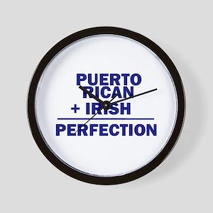 Puerto Rican + Irish Wall Clock