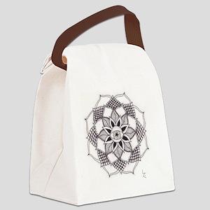 Eye Mandala Canvas Lunch Bag