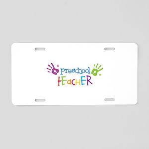 Preschool Teacher Aluminum License Plate