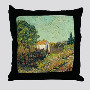 Van Goghs Landscape Throw Pillow