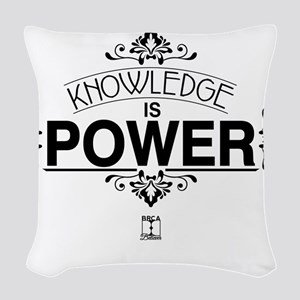Knowledge is Power Woven Throw Pillow