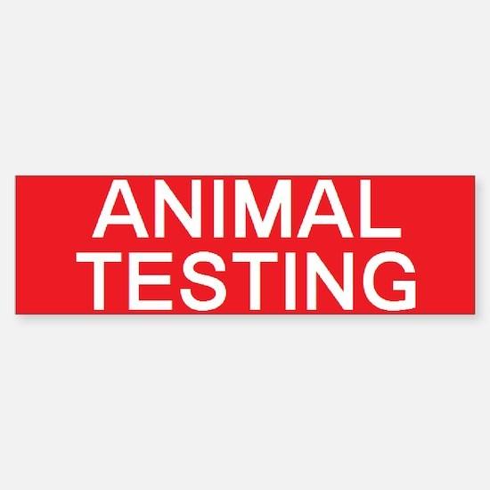 stop animal testing Bumper Bumper Bumper Sticker