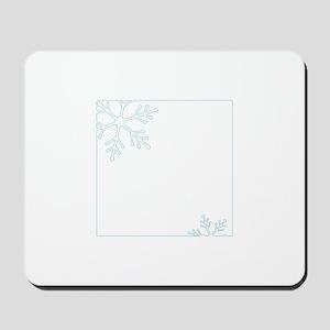 Snowflake Border Mousepad