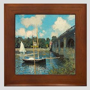 The Bridge at Argenteuil by Monet Framed Tile