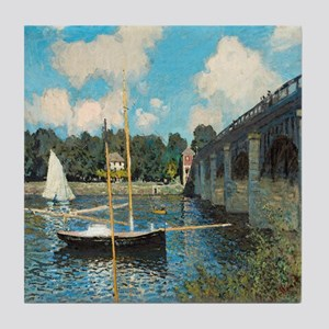 The Bridge at Argenteuil by Monet Tile Coaster