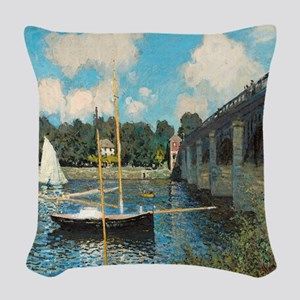 The Bridge at Argenteuil by Monet Woven Throw Pill
