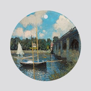 The Bridge at Argenteuil by Monet Ornament (Round)