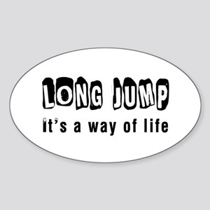 Long Jump Sticker (Oval)