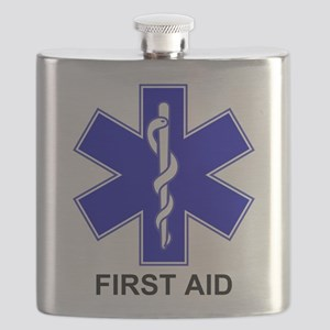 Blue Star of Life - First Aid Flask