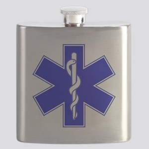 Throw Pillow Star of Life Flask