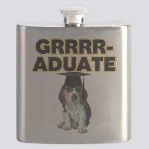 Graduation Beagle Puppy Flask