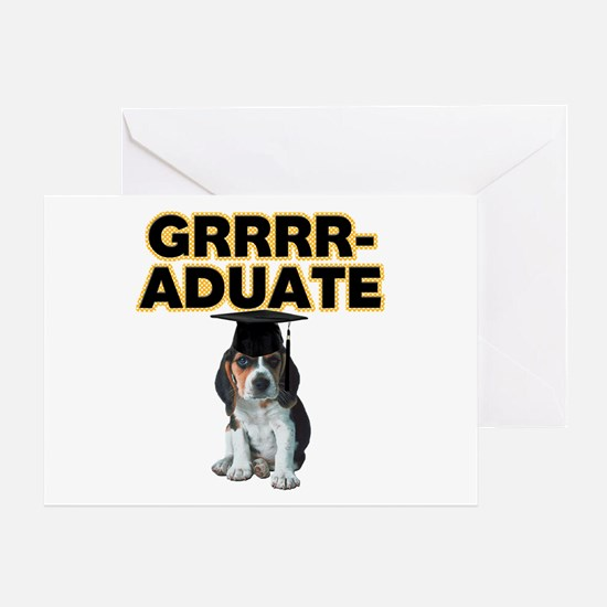 Graduation Beagle Puppy Greeting Card
