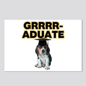 Graduation Beagle Puppy Postcards (Package of 8)