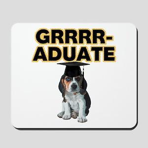 Graduation Beagle Puppy Mousepad