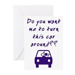 Turn Car Around Greeting Cards (Pk of 10)