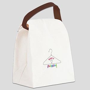 Heart Shopping Canvas Lunch Bag