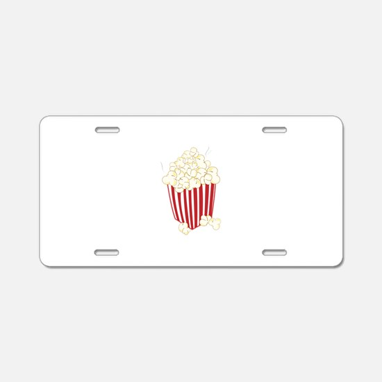 Bucket Of Popcorn Aluminum License Plate