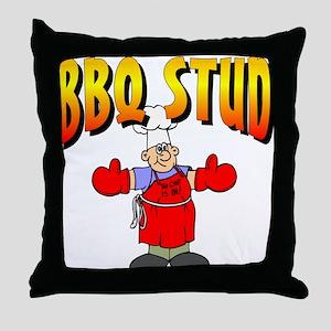 BBQ Stud Throw Pillow