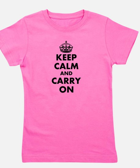 Keep calm and carry on | Personalized Girl's Tee