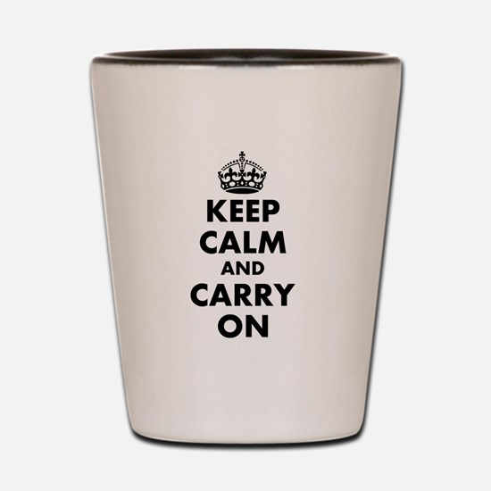 Keep calm and carry on | Personalized Shot Glass