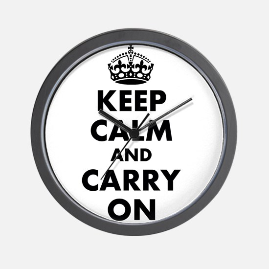 Keep calm and carry on | Personalized Wall Clock