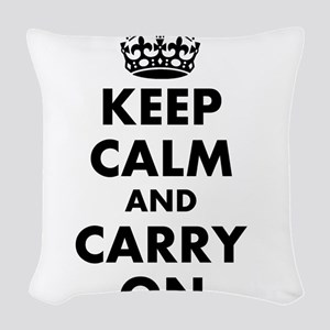 Keep calm and carry on | Personalized Woven Throw