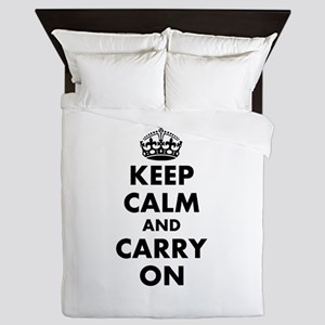 Keep calm and carry on | Personalized Queen Duvet