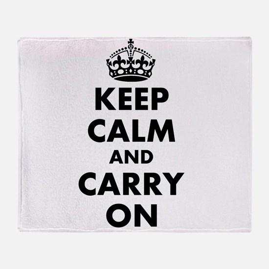 Keep calm and carry on   Personalized Throw Blanke