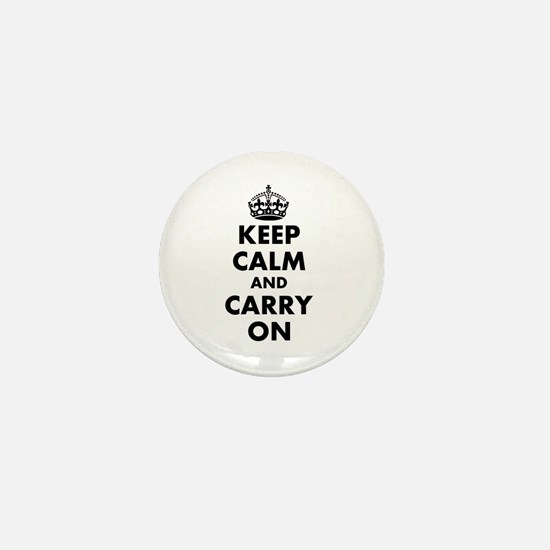 Keep calm and carry on | Personalized Mini Button