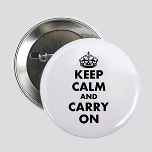 "Keep calm and carry on | Personalized 2.25"" Button"
