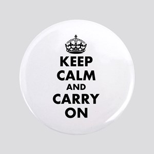 """Keep calm and carry on   Personalized 3.5"""" Button"""