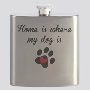 Home Is Where My Dog Is Flask