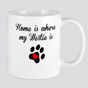 Home Is Where My Westie Is Mugs