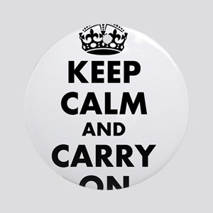 Keep calm and carry on | Personalized Ornament (Ro