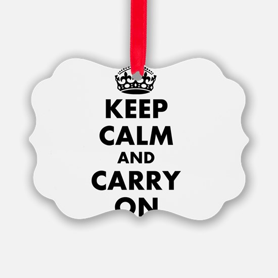 Keep calm and carry on | Personalized Ornament
