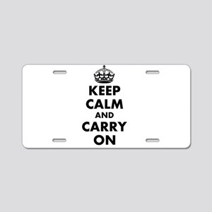 Keep calm and carry on   Personalized Aluminum Lic