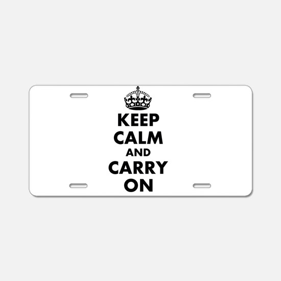 Keep calm and carry on | Personalized Aluminum Lic