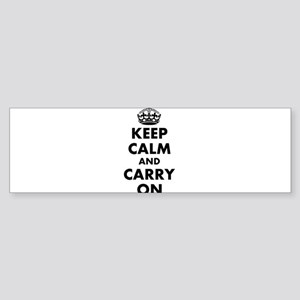 Keep calm and carry on | Personalized Bumper Stick