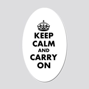 Keep Calm And Carry On | 20x12 Oval Wall Decal