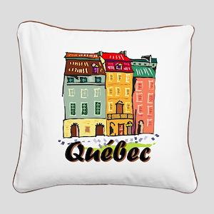 Quebec City Square Canvas Pillow