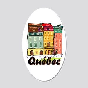 Quebec City Sticker 20x12 Oval Wall Decal