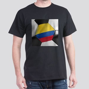 Colombia Soccer Ball Dark T-Shirt