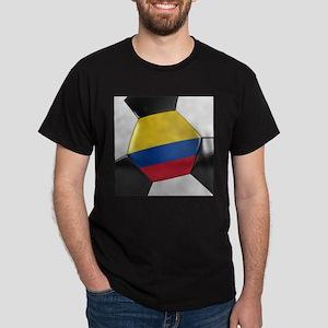 Colombia Soccer Ball Dark T-Shirt