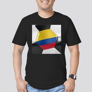 Colombia Soccer Ball Men's Fitted T-Shirt (dark)