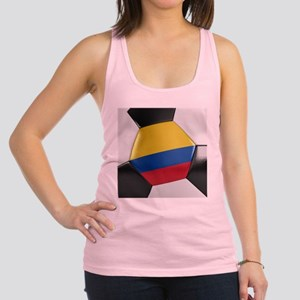 Colombia Soccer Ball Racerback Tank Top