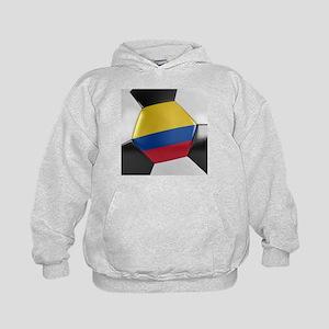 Colombia Soccer Ball Kids Hoodie