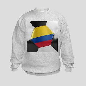 Colombia Soccer Ball Kids Sweatshirt