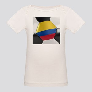 Colombia Soccer Ball Organic Baby T-Shirt