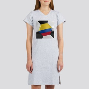 Colombia Soccer Ball Women's Nightshirt