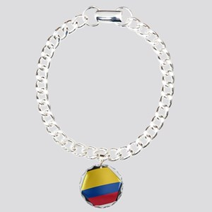Colombia Soccer Ball Charm Bracelet, One Charm